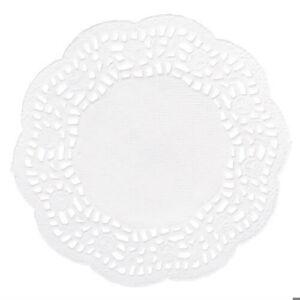 11 cm-es fehér kör csipkepapír 40 db-os csomag