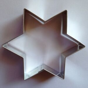 Csillag sütikiszúró forma 6 ágú 9,4 x 9,3 cm