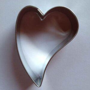 Ferde szív sütemény kiszúró, mézeskalács forma 5,1 x 3,7 cm
