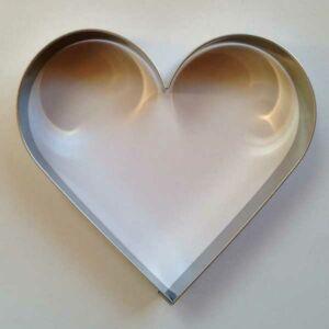 Nagy szív sütikiszúró forma  11,8 x 11 cm