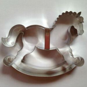 Óriás hintaló sütikiszúró, mézeskalács forma 16 cm