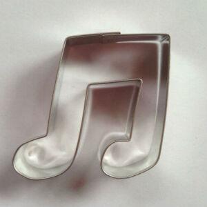 Páros hangjegy sütikiszúró forma 5,5 cm zenekedvelőknek