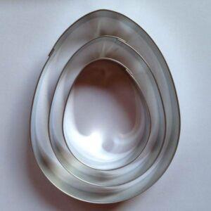 Tojás sütikiszúró készlet csomag 3 db-os nagyobb 11,6 - 9 - 6,7 cm