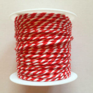 Piros fehér pékzsineg, dekorzsineg 10 m